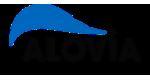 Alovia Logo mit einem Link auf ihre Website.